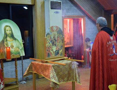 عيد العنصرة في ادونيس-جبيل امطار نِعَمٍ وبركات على المؤمنين